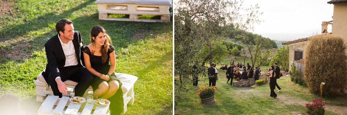 Alternative Italian wedding reception at Antico Spedale del Bigallo