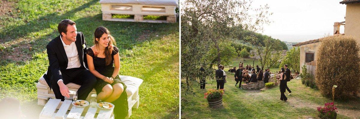 Alternative Italian wedding reception at Antico Spedale del Bigallo