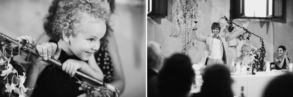 black and white wedding dinner photos
