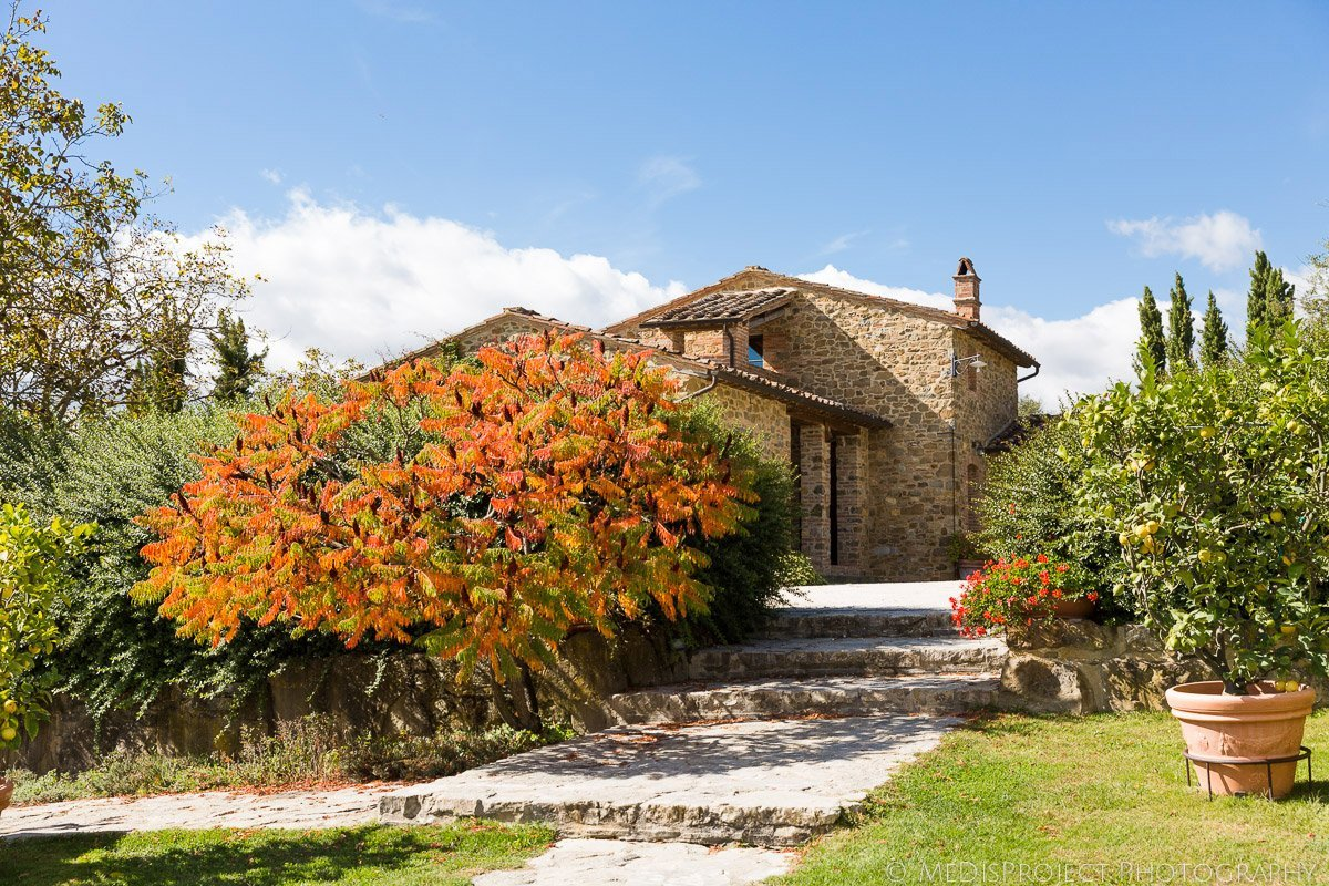 Casa Cornacchi, Bucine, Tuscany, Italy during autumn season