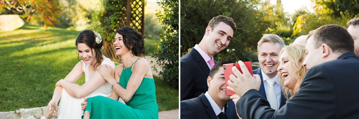 funny moments during a wedding reception in the garden