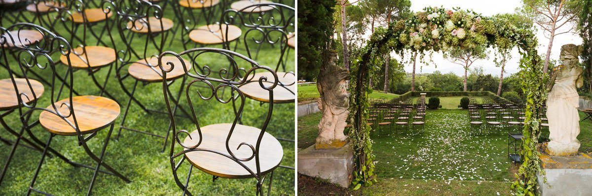 decoration settings for an outdoor symbolic ceremony in Florence