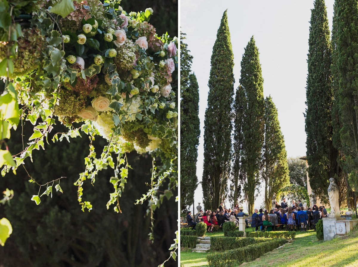 Stylish wedding at Villa Tavernaccia