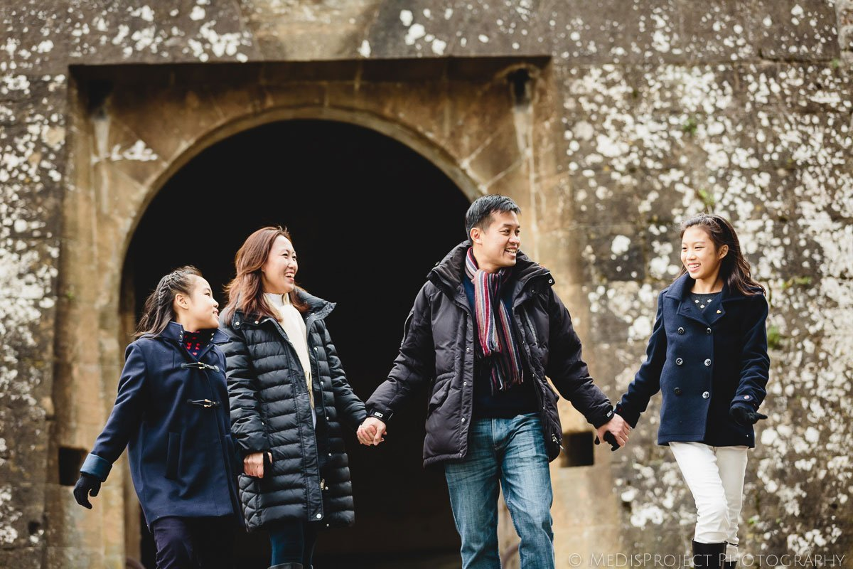 outdoor family portrait in Florence