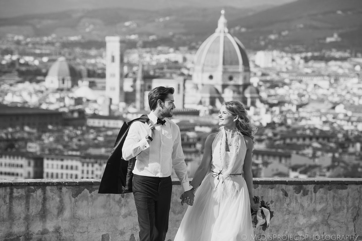 beautiful Russian couple getting married in Florence