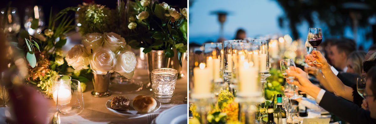 Stylish wedding table decorations