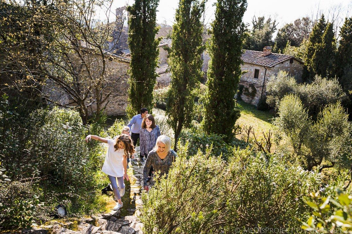 family photo session at Villa Bellezza by Inspirato