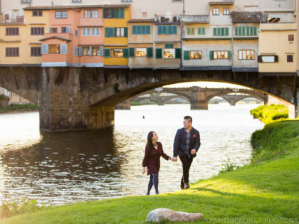 5th Wedding anniversary in Tuscany | Spring walk in Florence