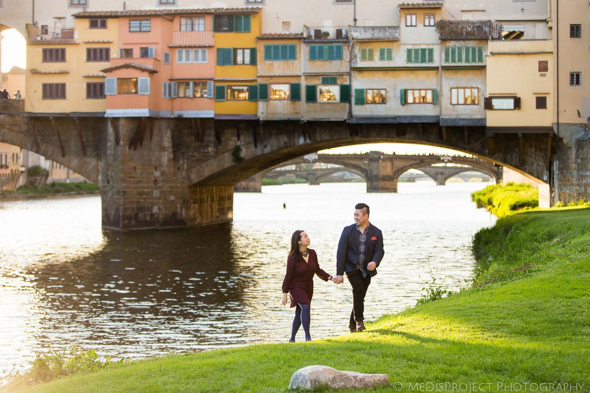 sunset photo session in Florence, Italy