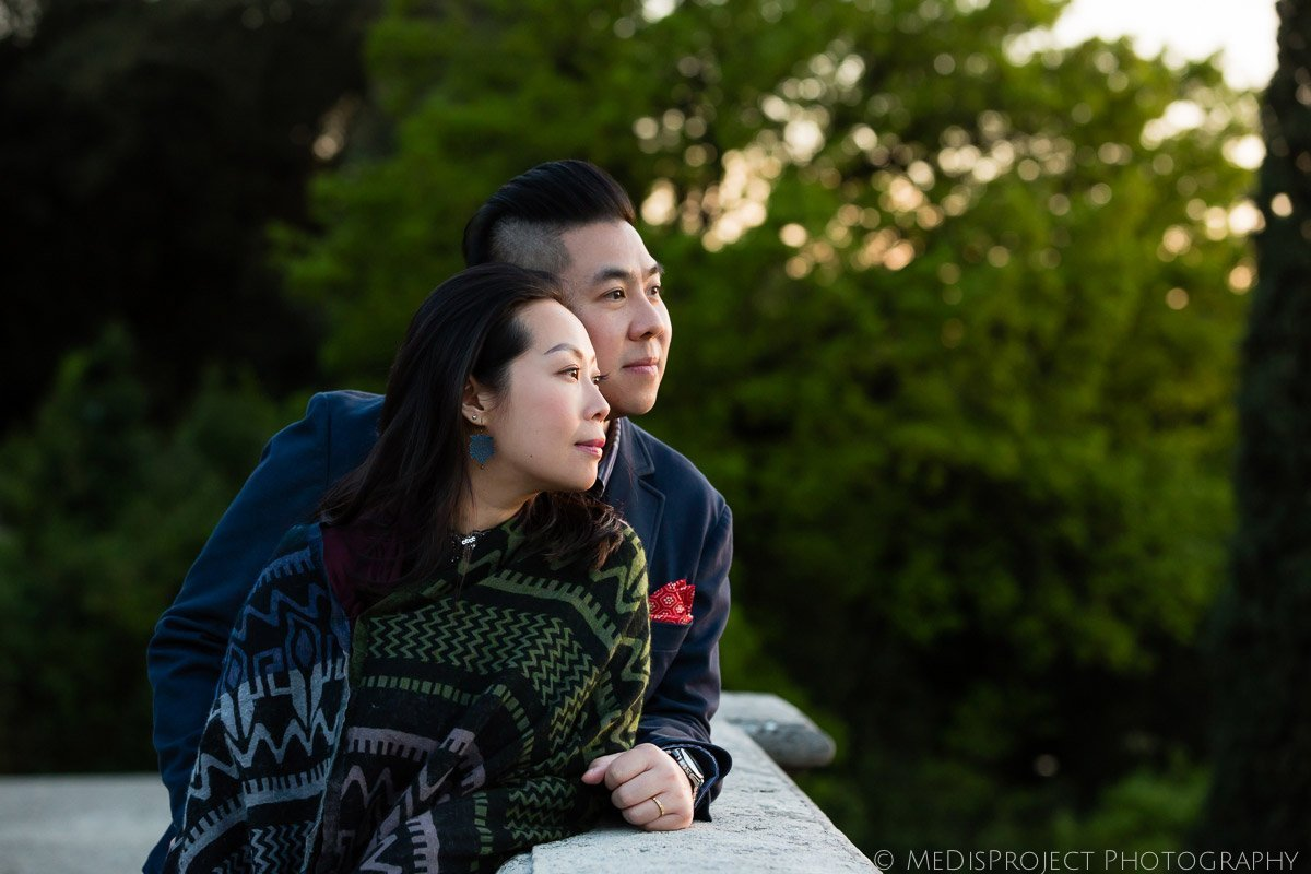 golden hour romantic photo session in Florence, Tuscany