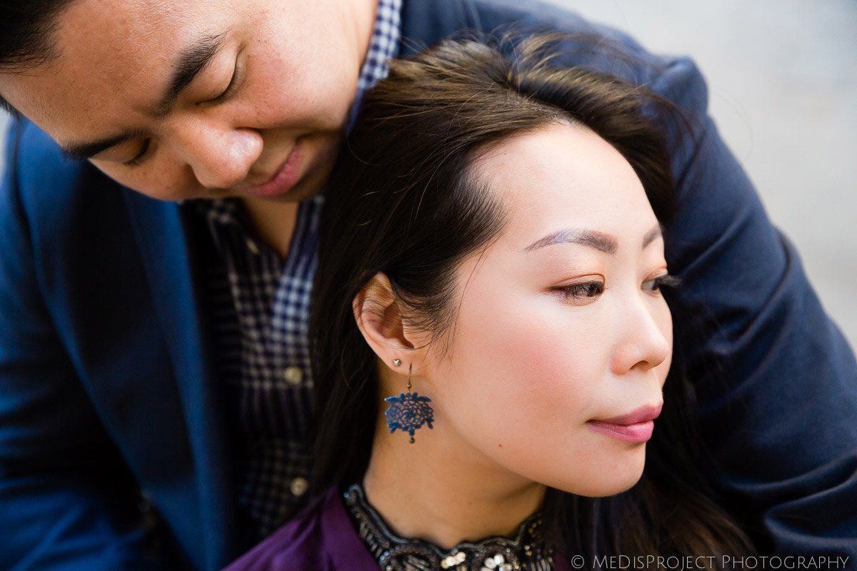 asian couple in Florence for their anniversary