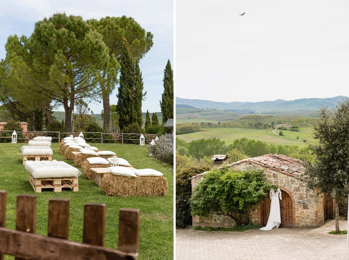 Wedding gown in Tenuta di Papena, Tuscany