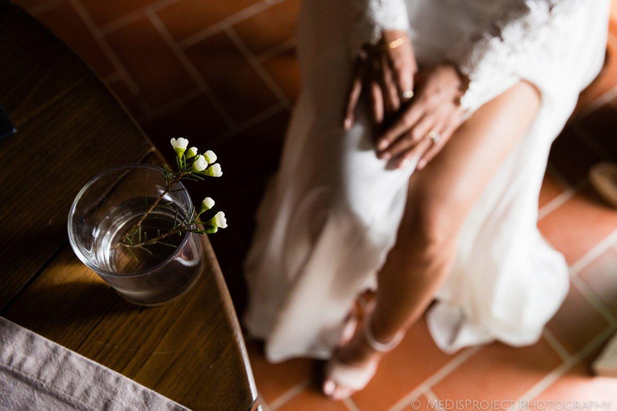 bridal getting ready details