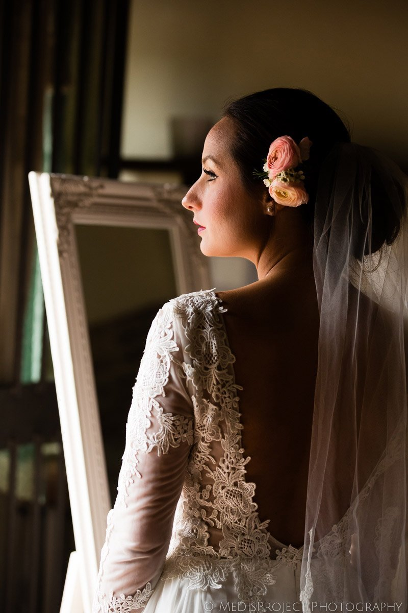 bridal portrait before the wedding ceremony