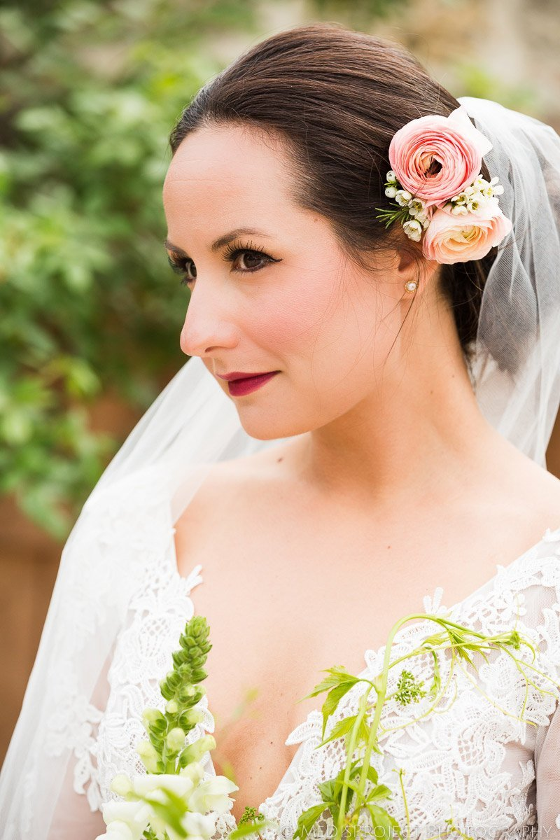 beautiful bridal portrait before the wedding ceremony
