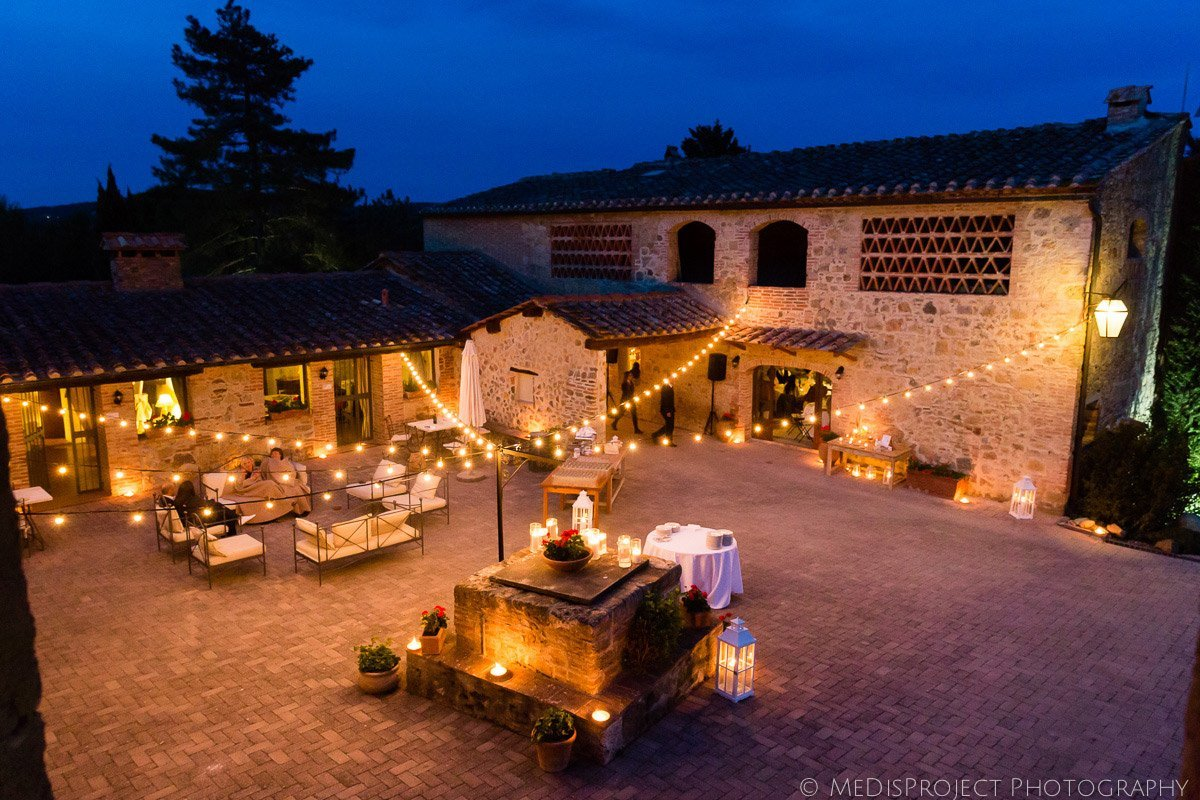 wedding celebrations at Tenuta Papena, Tuscany
