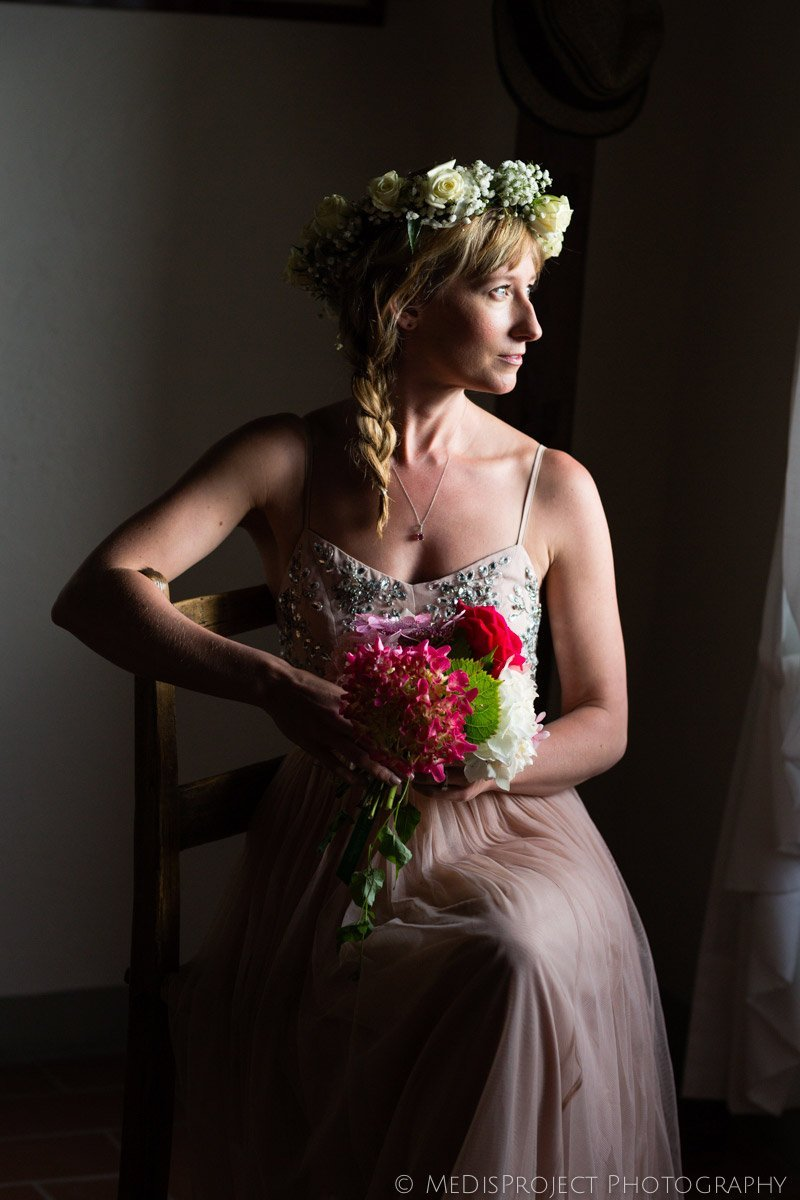 bridal portrait with soft natural light