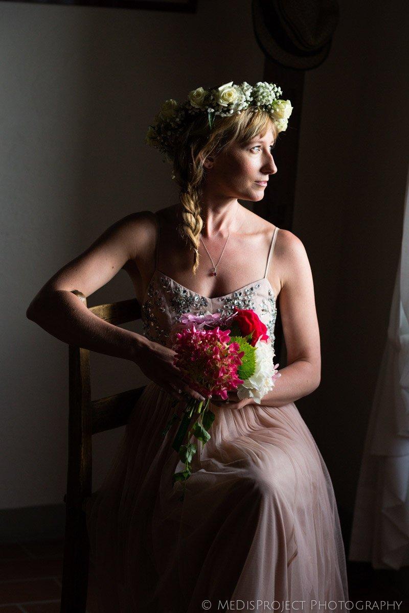 bridal portrait with soft natural light