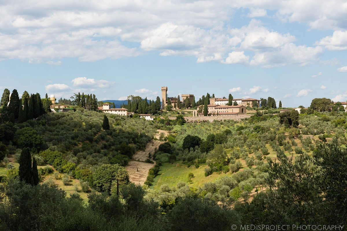 panoramic view of Arcetri, Tuscany