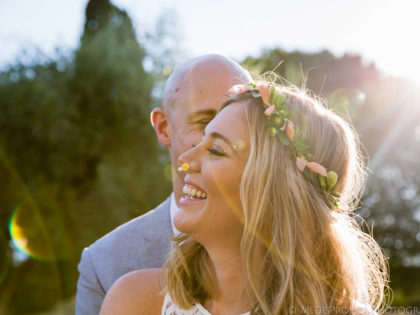 Destination wedding in Florence | Ceremony in olive grove at Villa Poggio San Felice