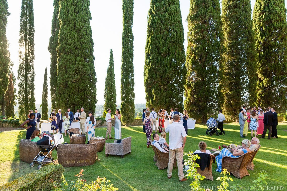 Wedding reception at Villa Poggio San Felice in Italy