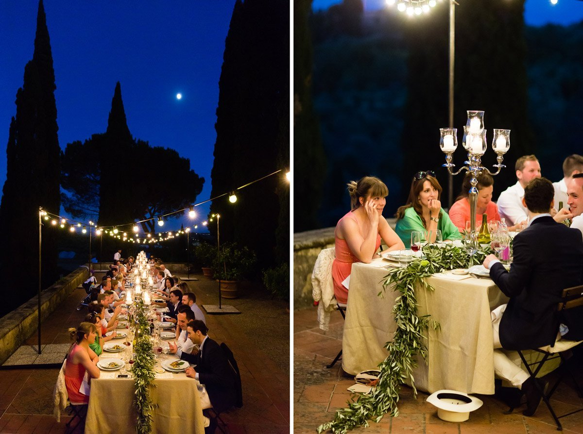 blue hour wedding dinner