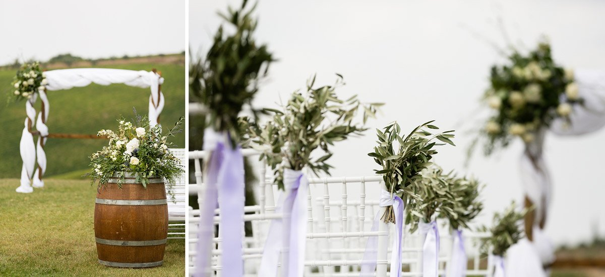 A country chic wedding setup at Fonte de Medici