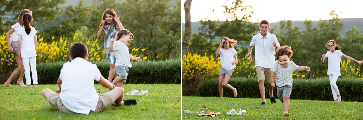 kids playing outdoor during summer holidays