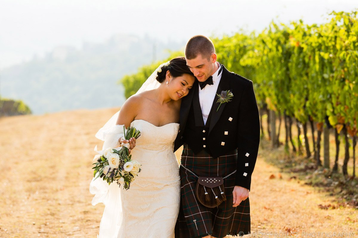 asian wife and English groom getting married in Tuscany