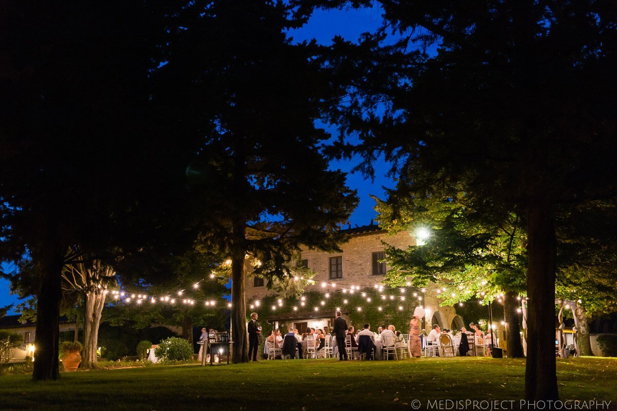 wedding dinner at the Fonte dei Medici in Tuscany
