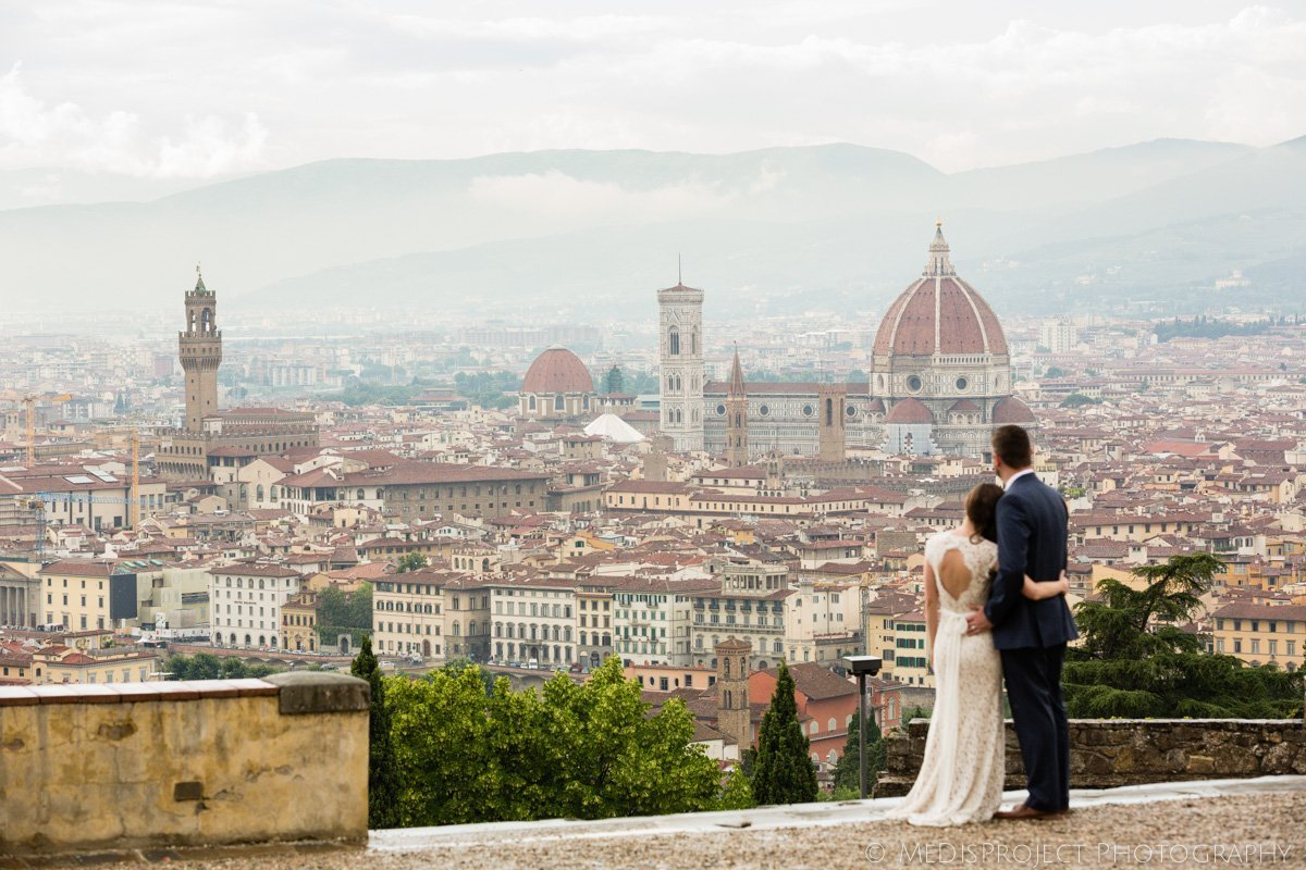 couple spending Honeymoon in Tuscany