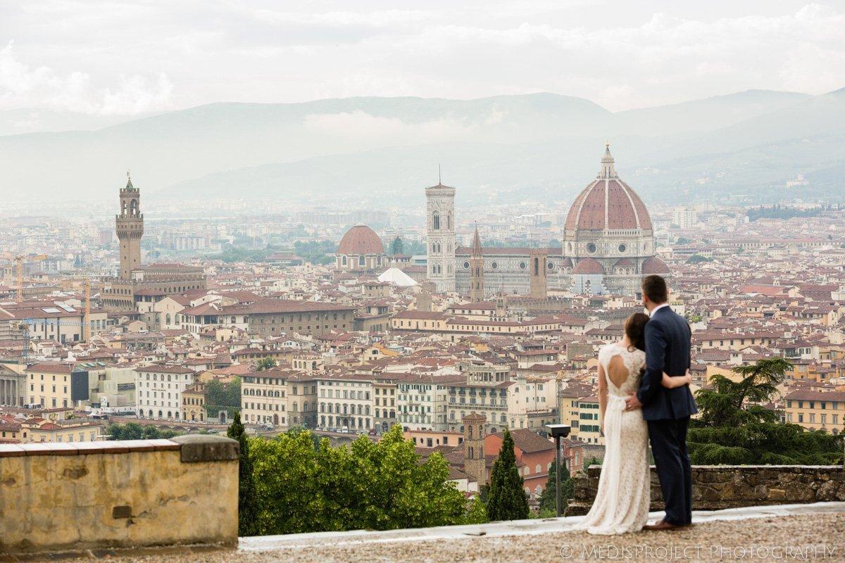 couple spending Honeymoon in Tuscany