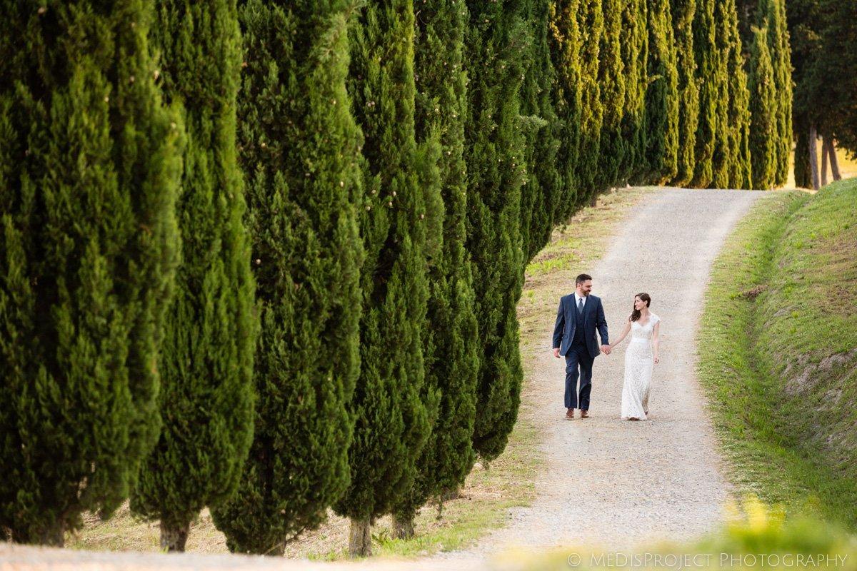 Tuscan style wedding photos