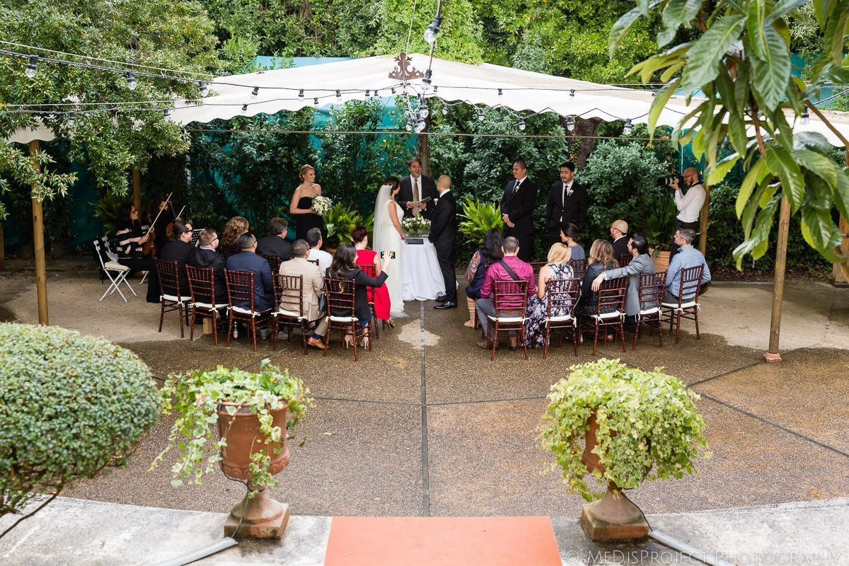 Outdoor ceremony at Villa le Piazzole in Florence