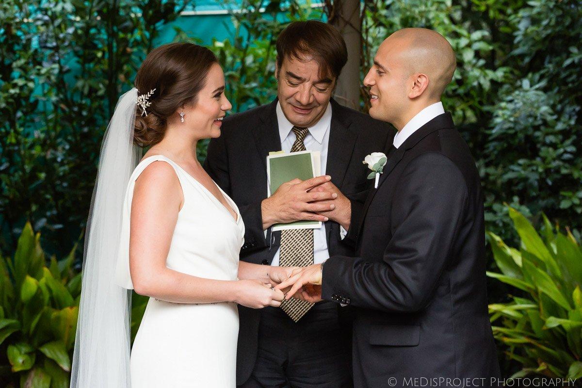 wedding ceremony at Villa le Piazzole