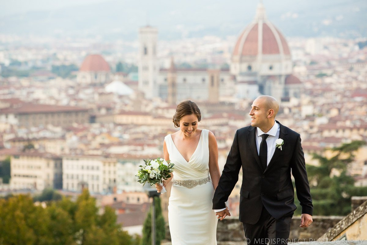 Panoramic wedding photo session in Florence
