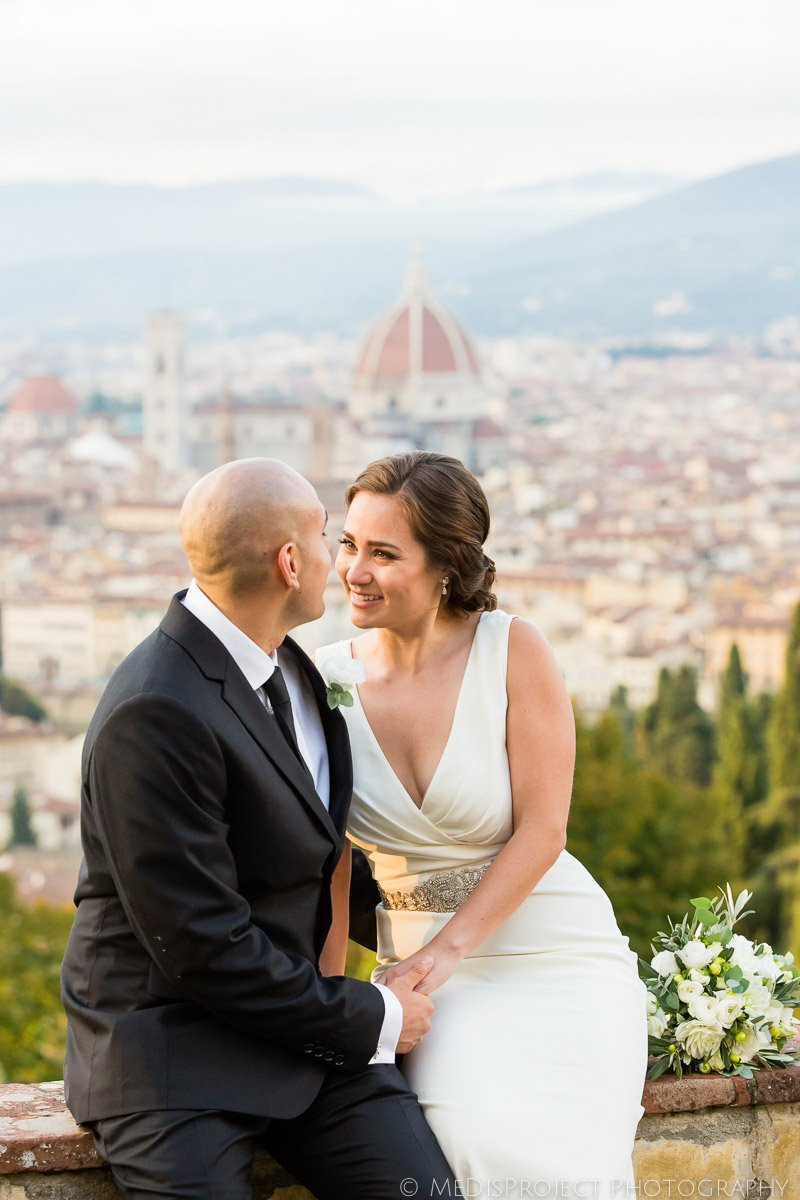 Bride and groom portrait photo session in Florence
