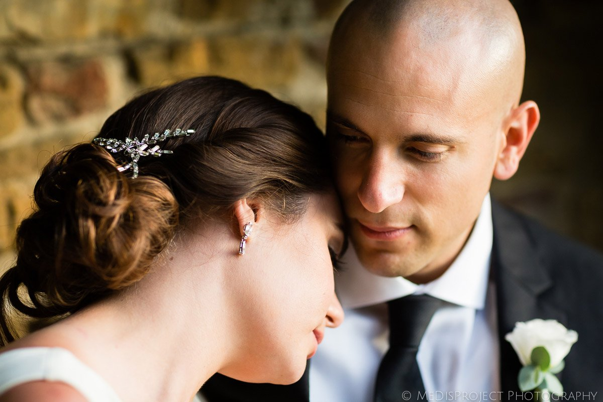 Bride and Groom emotional portrait in Florence