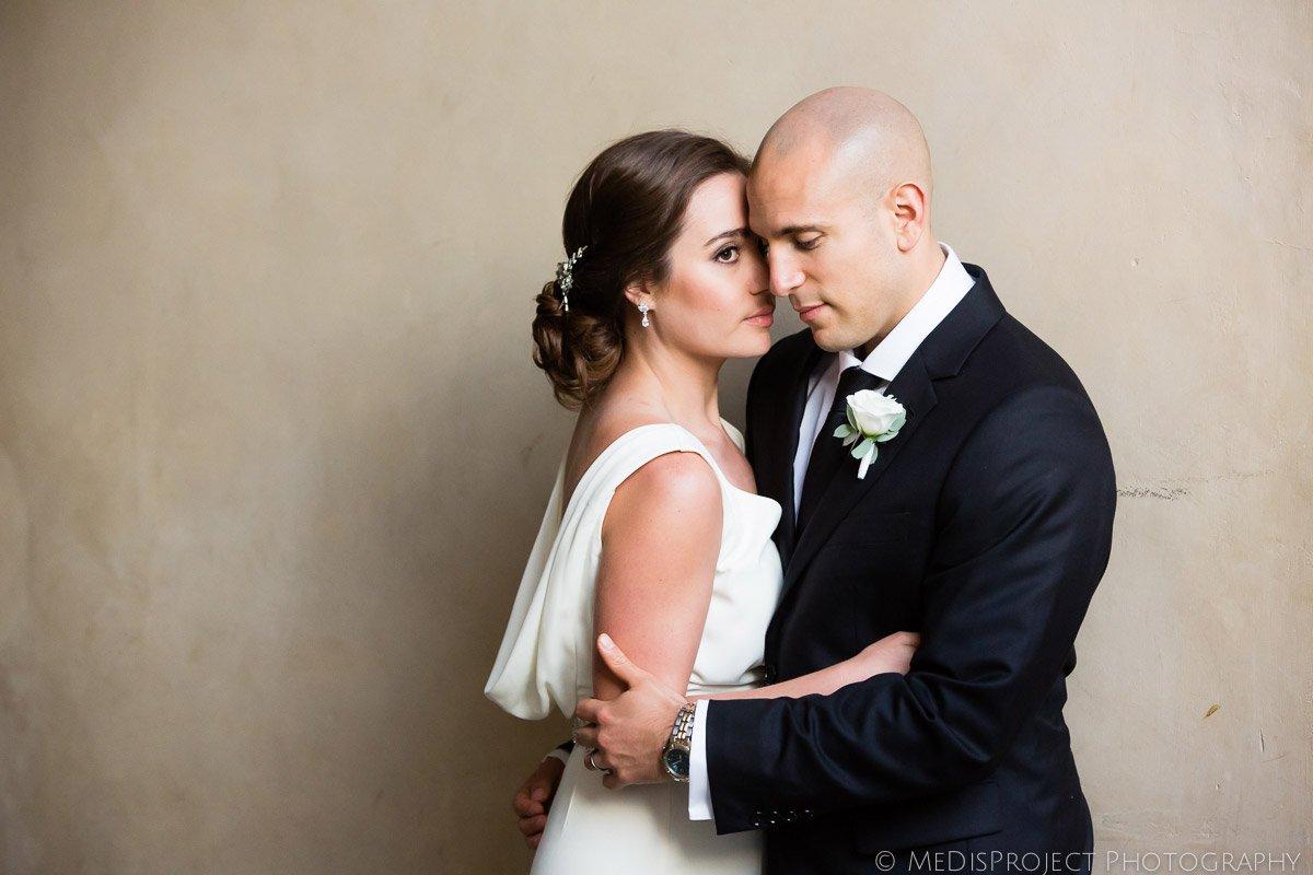 Bride and Groom emotional portrait
