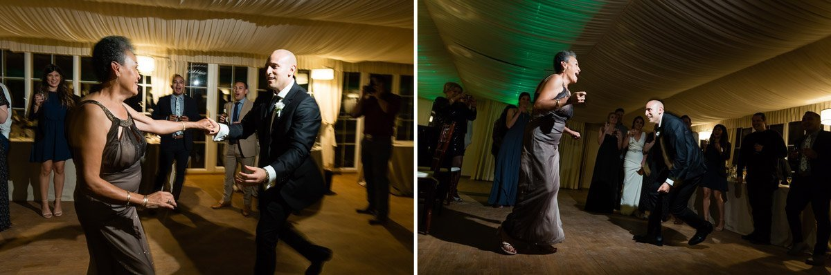 guests dancing at a wedding reception in Italy