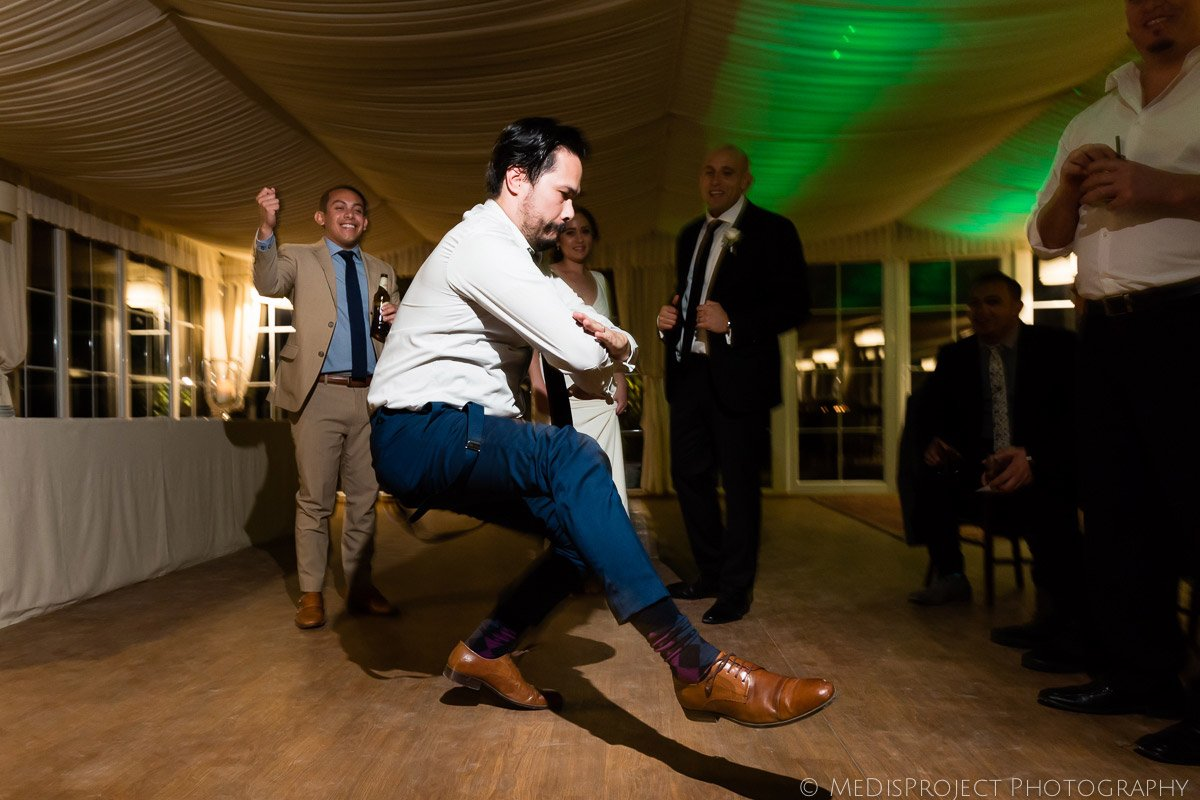people dancing at a wedding reception in Italy