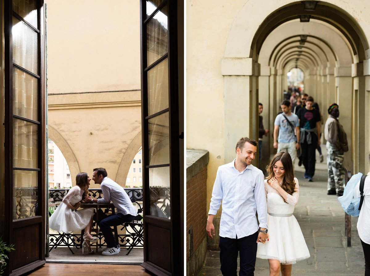Anniversary photo shoot in Florence Italy