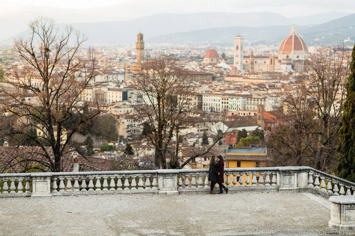 panoramic point of view in Florence