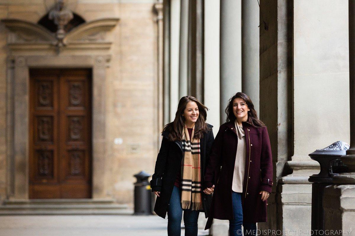 Same-sex romantic photos in Florence