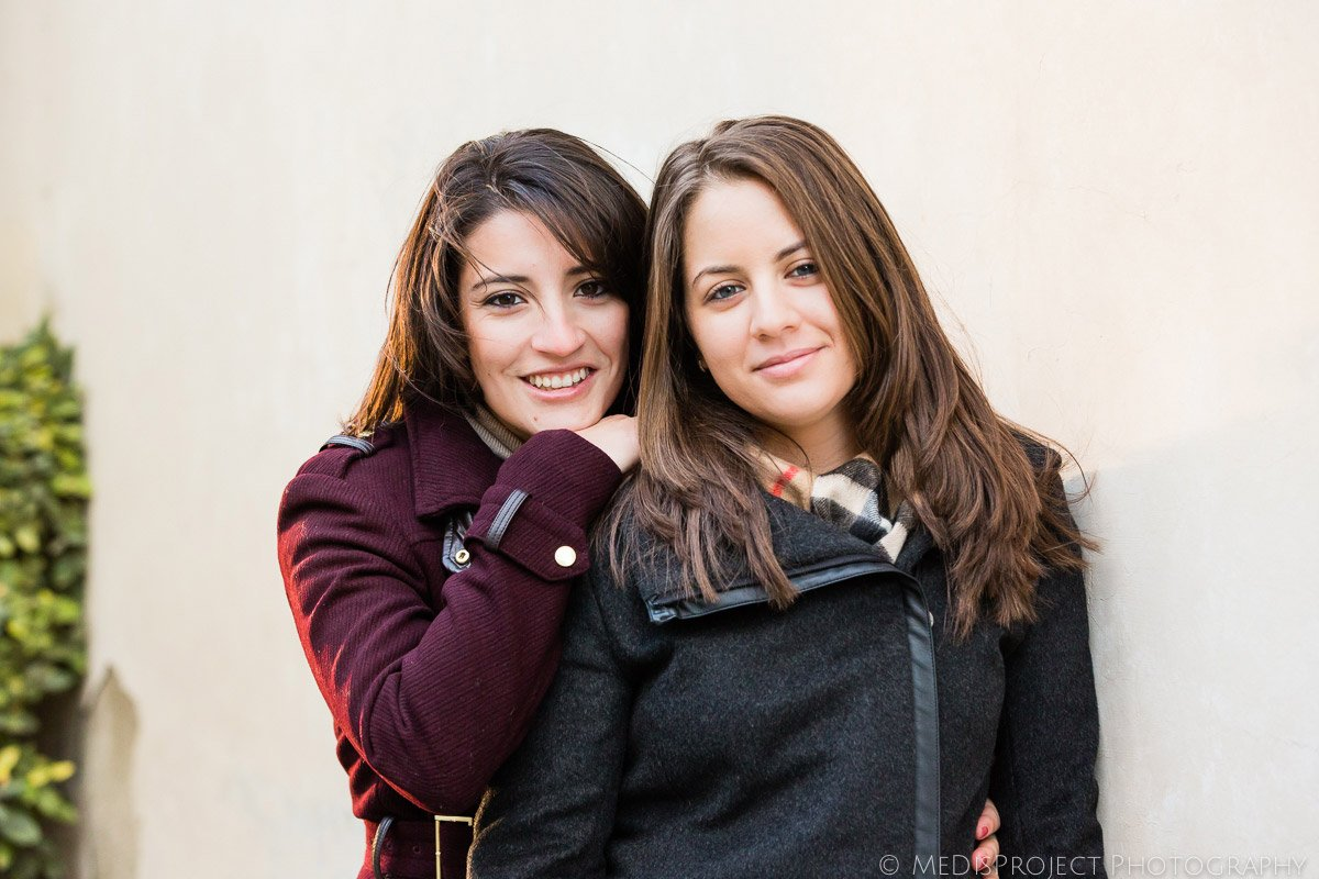 girls couple portrait