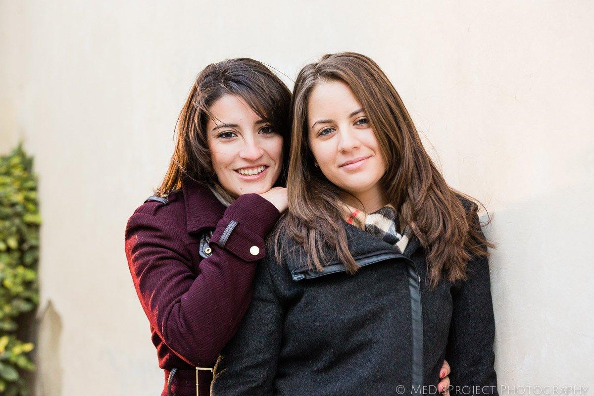girls couple portrait