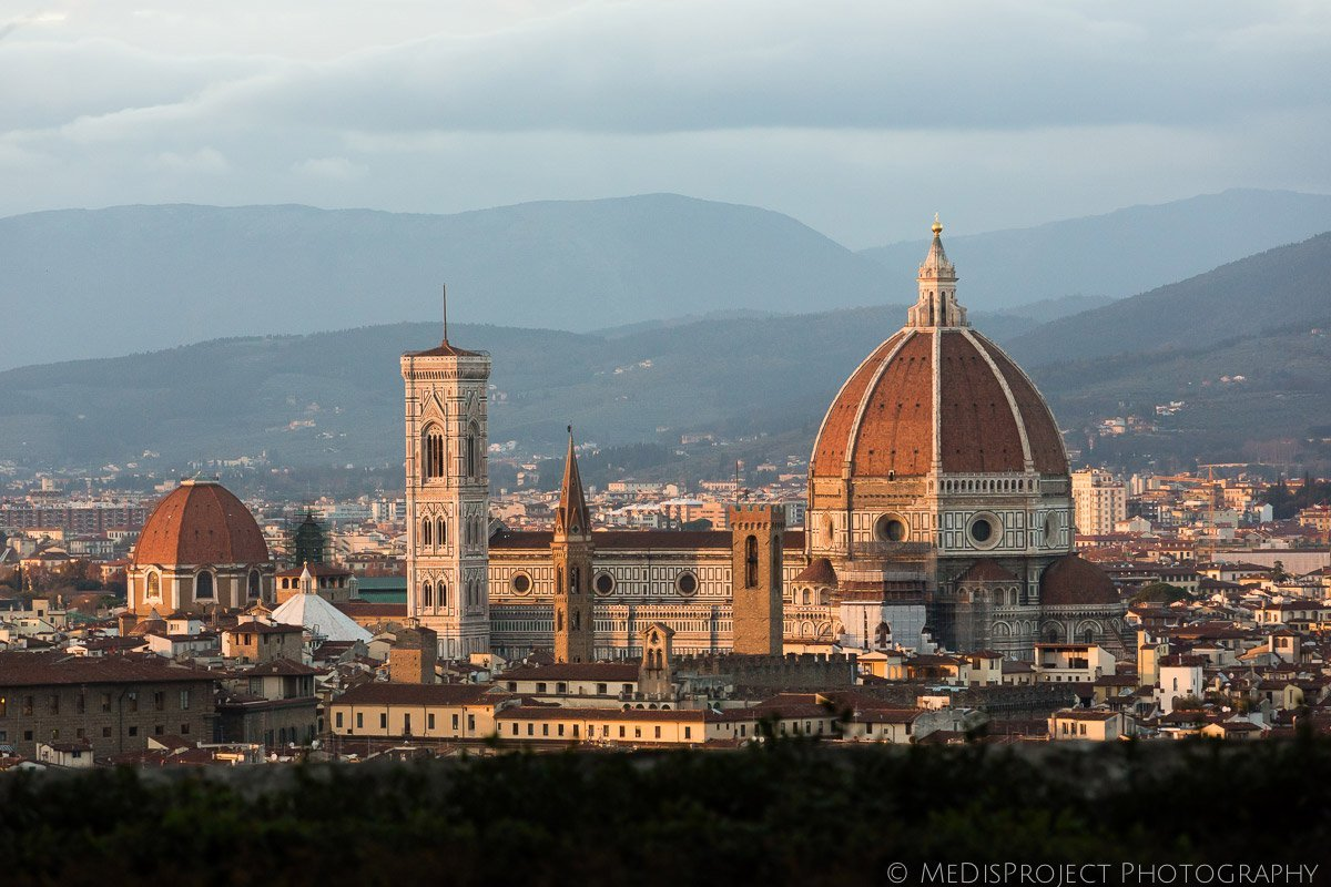 Brunelleschi's dome at sunset