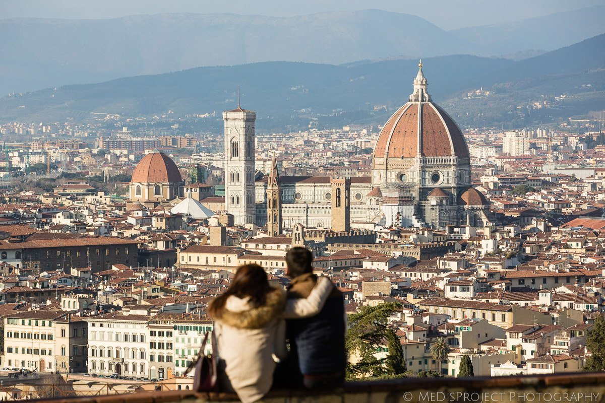 Lovely beautiful view over Florence