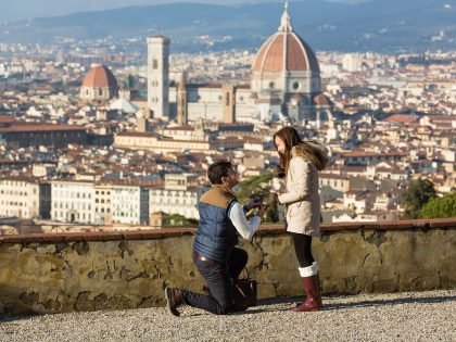 Will you marry me? | Romantic marriage proposal in Florence