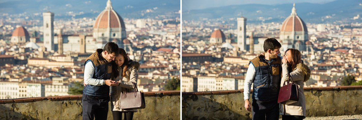 Romantic marriage proposal photos in Florence